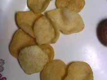 To show a sample of what our  potato chips looked like.